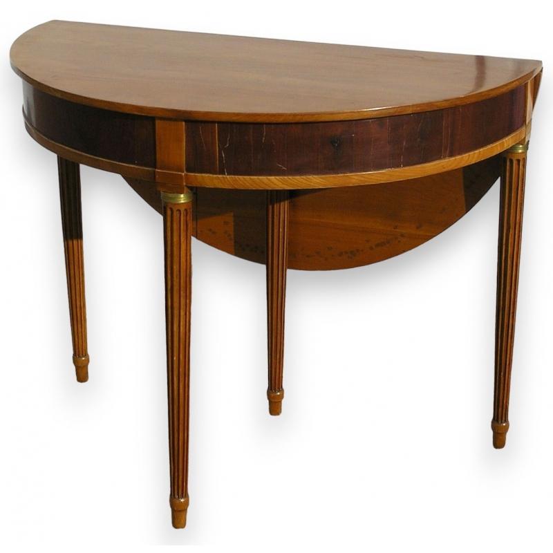 Berühmt Tisch demi-lune Louis XVI mit einer klappe. - Moinat SA LR53
