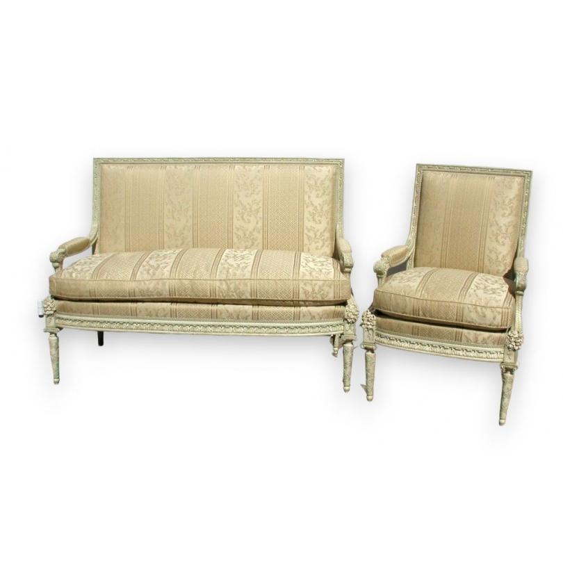 salon style louis xvi dossiers la reine sur moinat sa antiquit s d coration. Black Bedroom Furniture Sets. Home Design Ideas