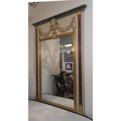 Trumeau style Louis XVI laqué