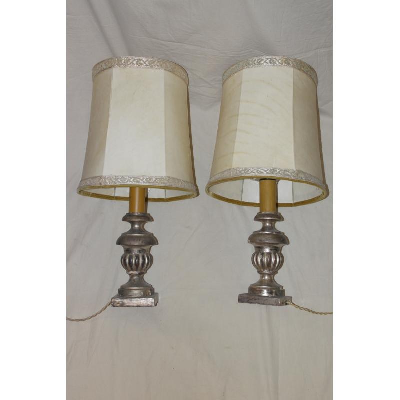 paire de lampes bois dor abat jour moinat sa antiquit s d coration. Black Bedroom Furniture Sets. Home Design Ideas