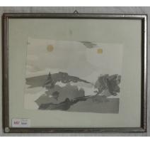 Aquarelle signée Rougier 1978