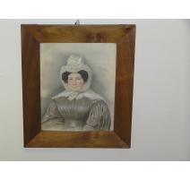 "Pastel portrait ""Mademoiselle Jenny de"