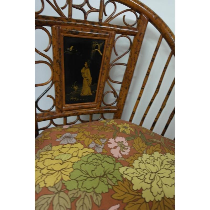 fauteuil en bambou avec coussin sur moinat sa antiquit s d coration. Black Bedroom Furniture Sets. Home Design Ideas