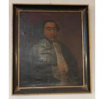 """Huile sur toile """"Portrait de M. Fontana"""""""