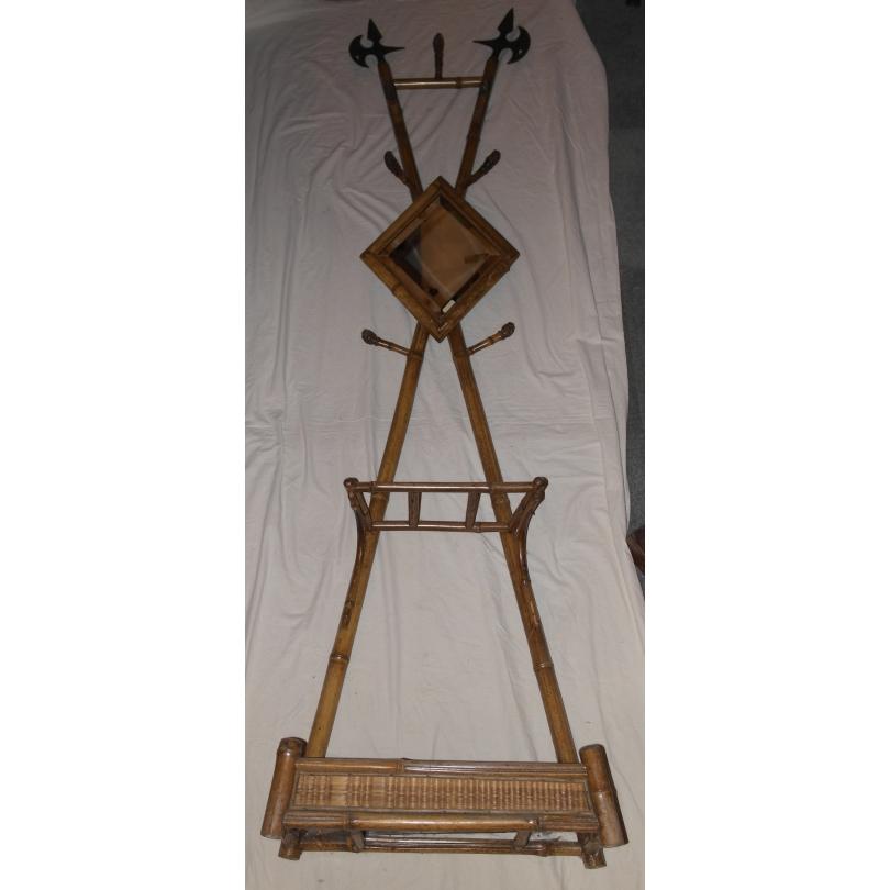 porte manteau en bambou avec miroir moinat sa. Black Bedroom Furniture Sets. Home Design Ideas