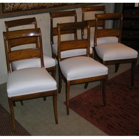 S rie de 6 chaises louis philippe vaudoises sur moinat sa antiquit s d coration - Chaises louis philippe cannees ...