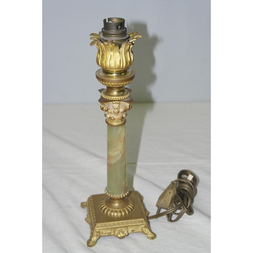 lampe pied colonne en marbre sur moinat sa antiquit s. Black Bedroom Furniture Sets. Home Design Ideas