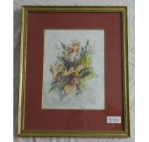 """Aquarelle """"Bouquet de fleurs"""""""