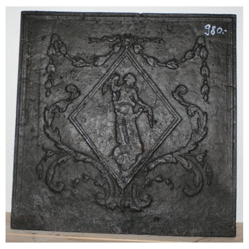 plaque de chemin e en fonte moinat sa antiquit s. Black Bedroom Furniture Sets. Home Design Ideas