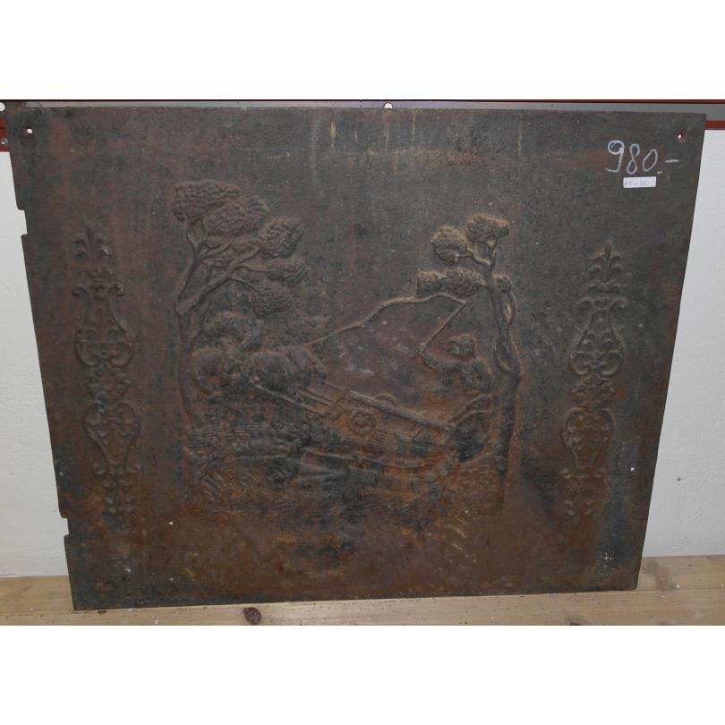 plaque de chemin e en fonte laboureur sur moinat sa antiquit s d coration. Black Bedroom Furniture Sets. Home Design Ideas