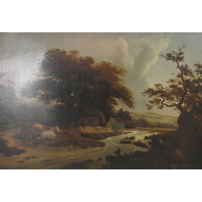 Peintures Huile Sur Panneau Paysage Anglais Moinat Sa
