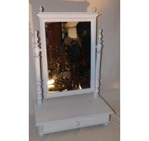 Miroir de table laquée blanc