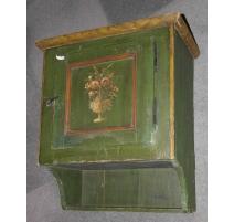 Gänterli peint vert avec bouquet