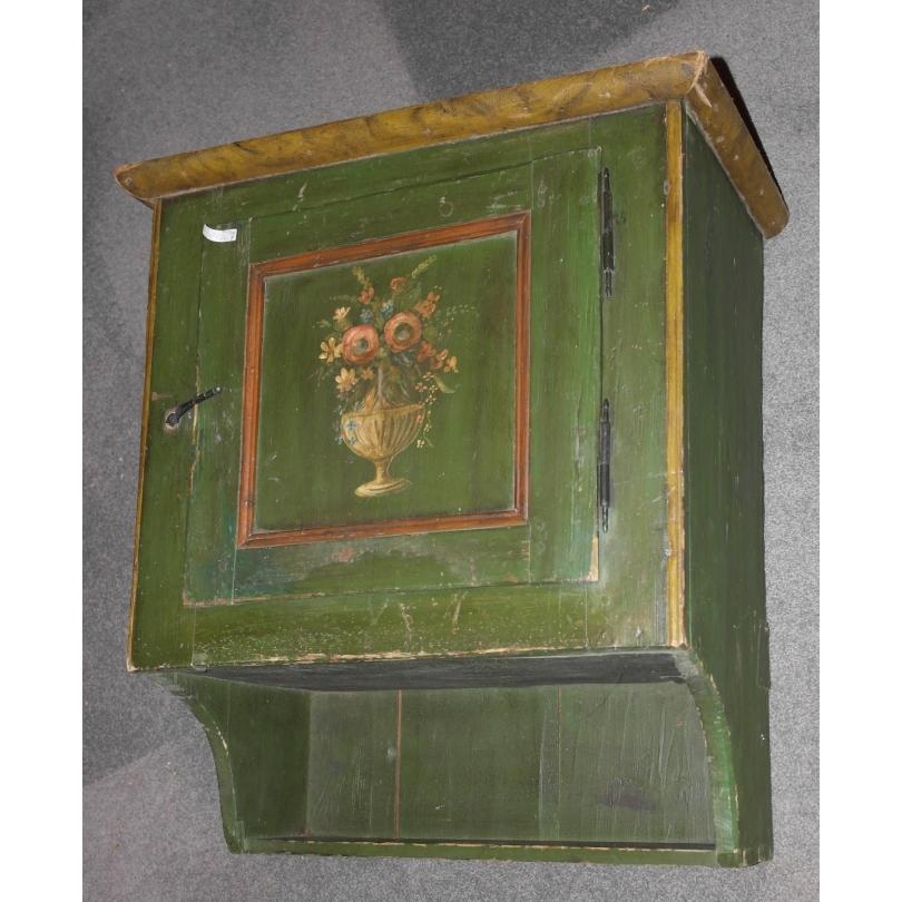 Gänterli peint vert avec bouquet de