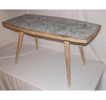 Table basse plateau mosaïque
