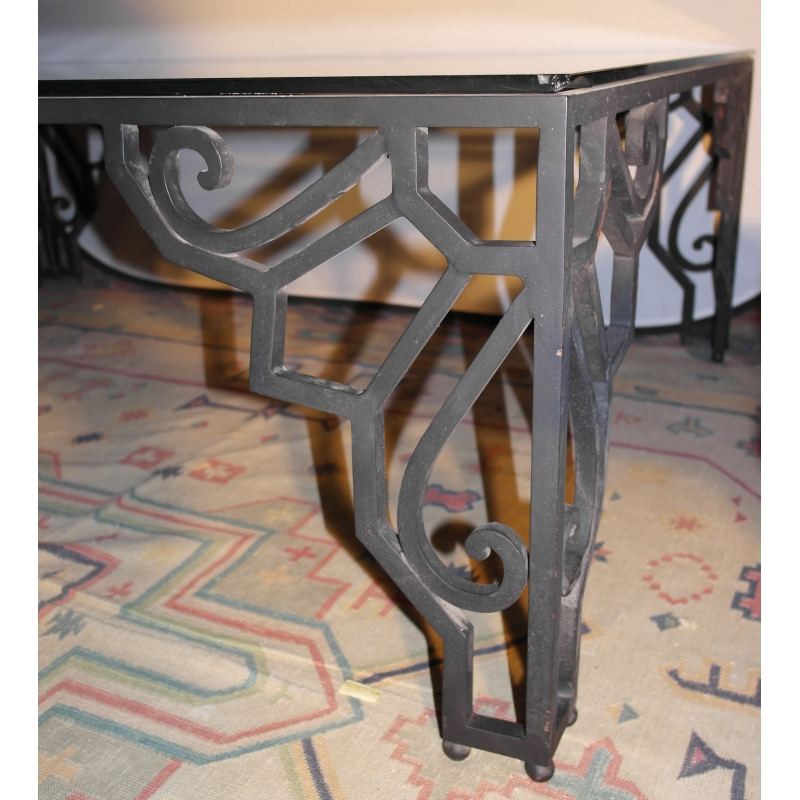 table basse art d co en fer forg sur moinat sa antiquit s d coration. Black Bedroom Furniture Sets. Home Design Ideas