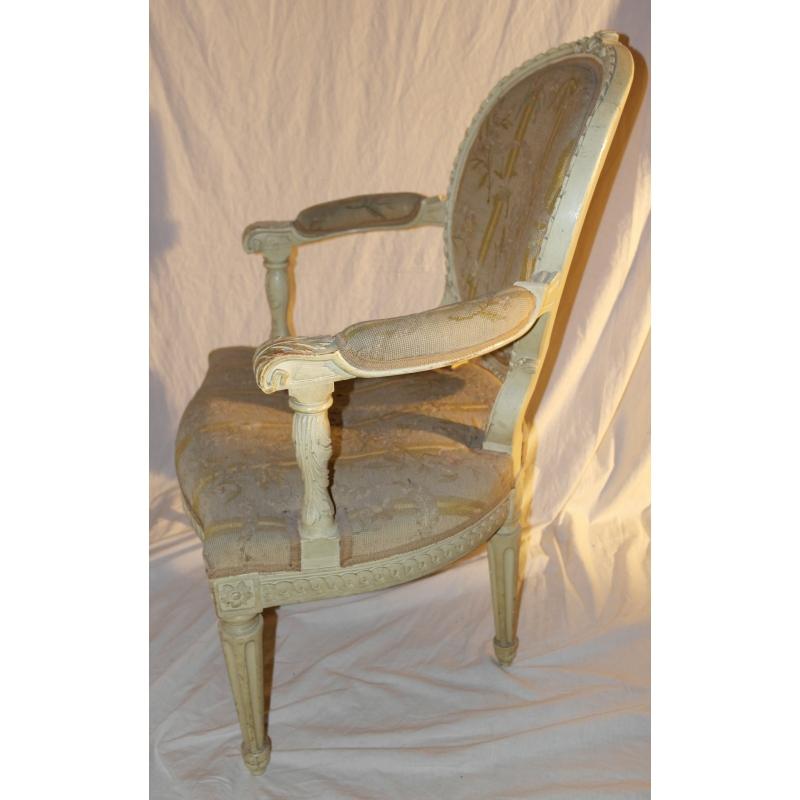 fauteuil louis xvi dossier m daillon sur moinat sa. Black Bedroom Furniture Sets. Home Design Ideas