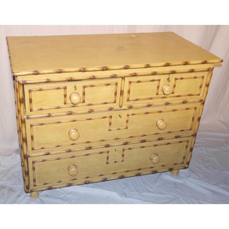 commode en faux bambou vers 1950 sur moinat sa antiquit s d coration. Black Bedroom Furniture Sets. Home Design Ideas