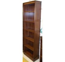 Bibliothèque ouverte en acajou
