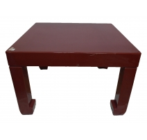 Table basse en laque rouge