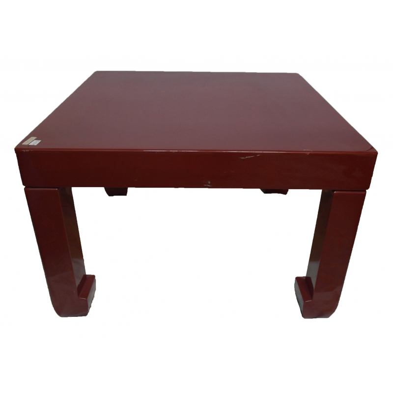 table basse en laque rouge sur moinat sa antiquit s d coration. Black Bedroom Furniture Sets. Home Design Ideas