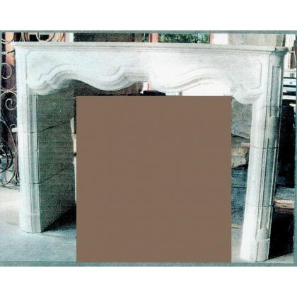Cheminée Louis XIV en pierre calcaire