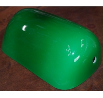 Globe en verre pour lampe de banquier