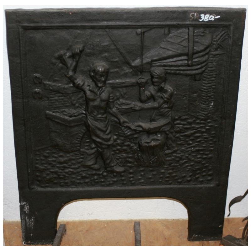 plaque de chemin e en fonte forgeron sur moinat sa. Black Bedroom Furniture Sets. Home Design Ideas