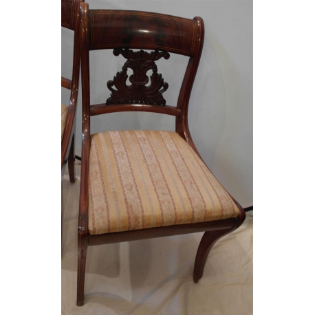 Chaise Anglaise En Acajou Moinat Sa Antiquites Decoration