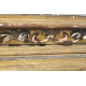 Socle en bois sculpté doré et polychrome