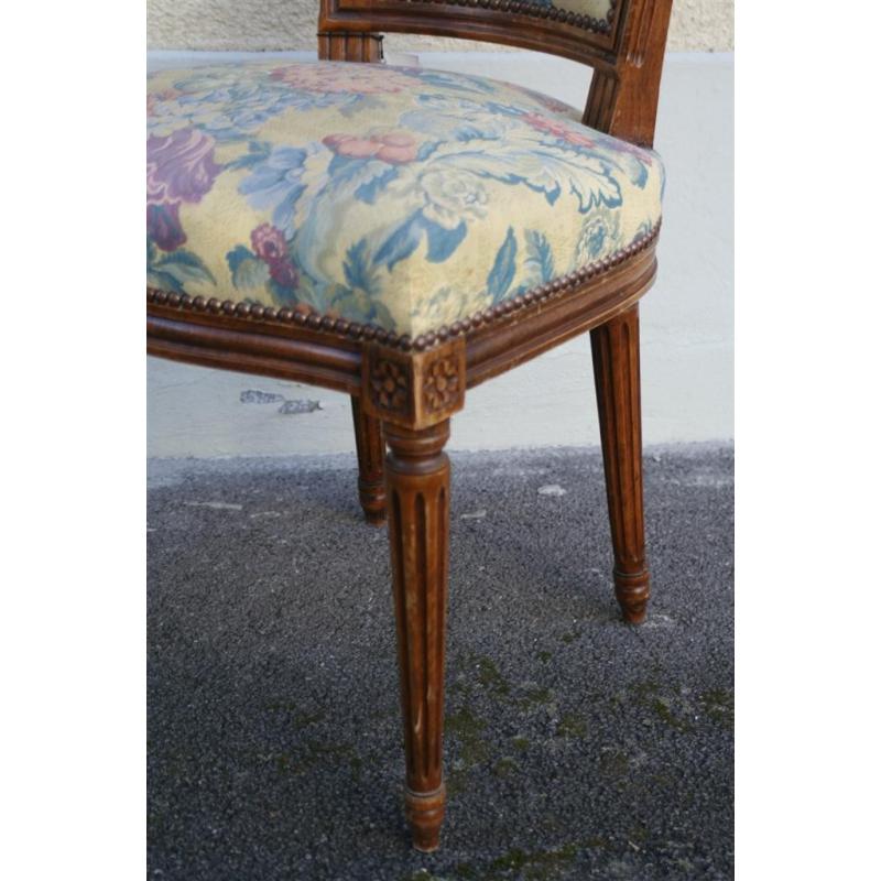 Chaise style louis xvi dossier chapeau moinat sa antiquit s d coration - Chaise style louis xvi ...