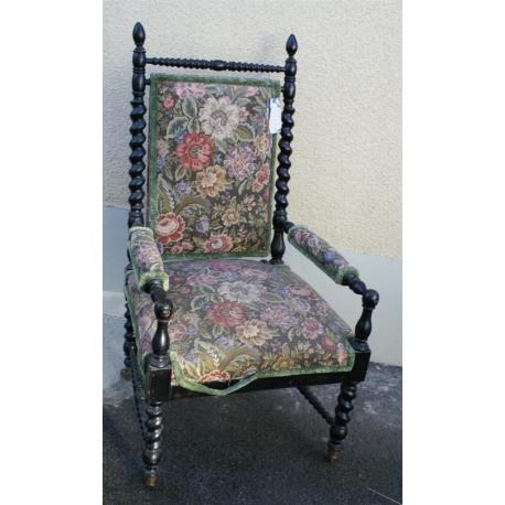fauteuil napol on iii sur roulettes en sur moinat sa antiquit s d coration. Black Bedroom Furniture Sets. Home Design Ideas