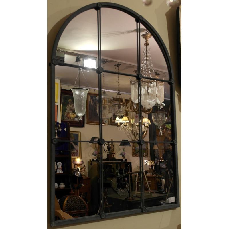 Miroir vouté style industriel sur Moinat SA - Antiquités décoration