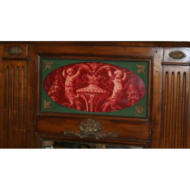 miroir fronton en toile cir e sur moinat sa antiquit s. Black Bedroom Furniture Sets. Home Design Ideas