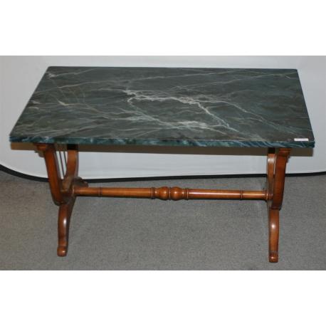 table basse pieds lyre dessus peint sur moinat sa antiquit s d coration. Black Bedroom Furniture Sets. Home Design Ideas