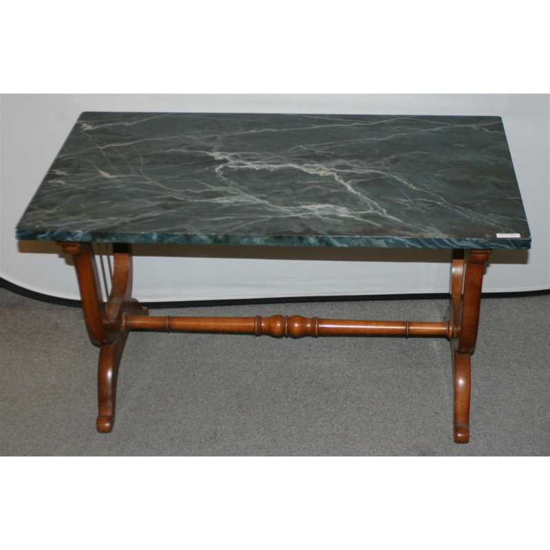 table basse pieds lyre dessus peint faux marbre moinat sa antiquit s d coration. Black Bedroom Furniture Sets. Home Design Ideas