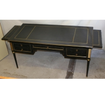 Bureau style Louis XVI noir avec
