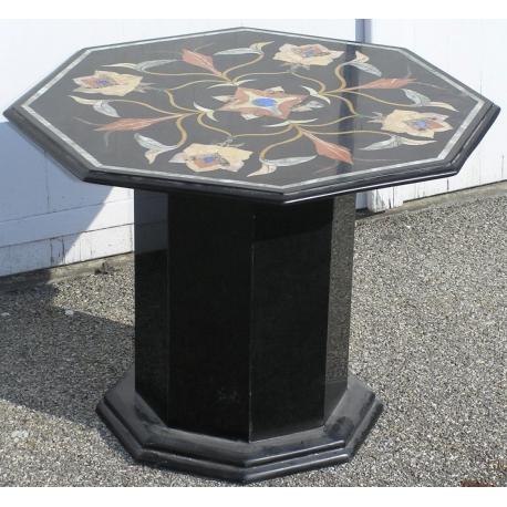 table basse hexagonale en marqueterie sur moinat sa antiquit s d coration. Black Bedroom Furniture Sets. Home Design Ideas