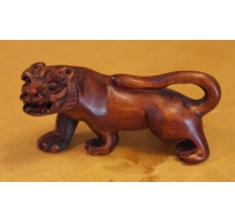 "Netsuke en bois ""Lion"" Chine"