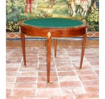 Tabelle spiele runden mahagoni, oben filz.