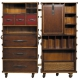 Malle secretary with 6 drawers