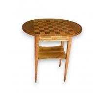Table  Directoire avec tiroir et tablette.