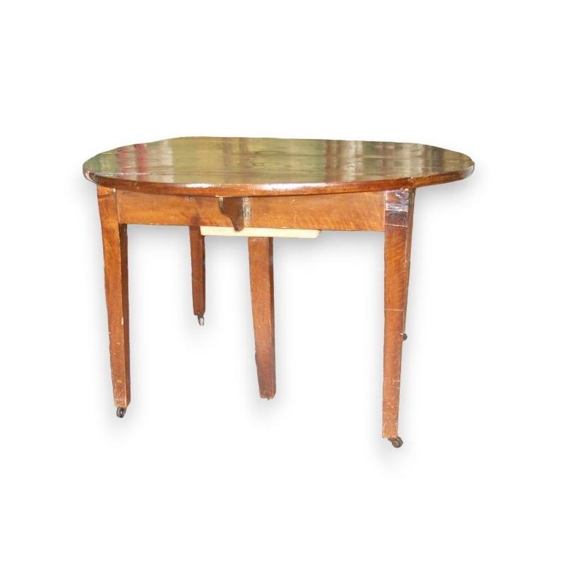 Table Directoire ronde avec 2 abattants.