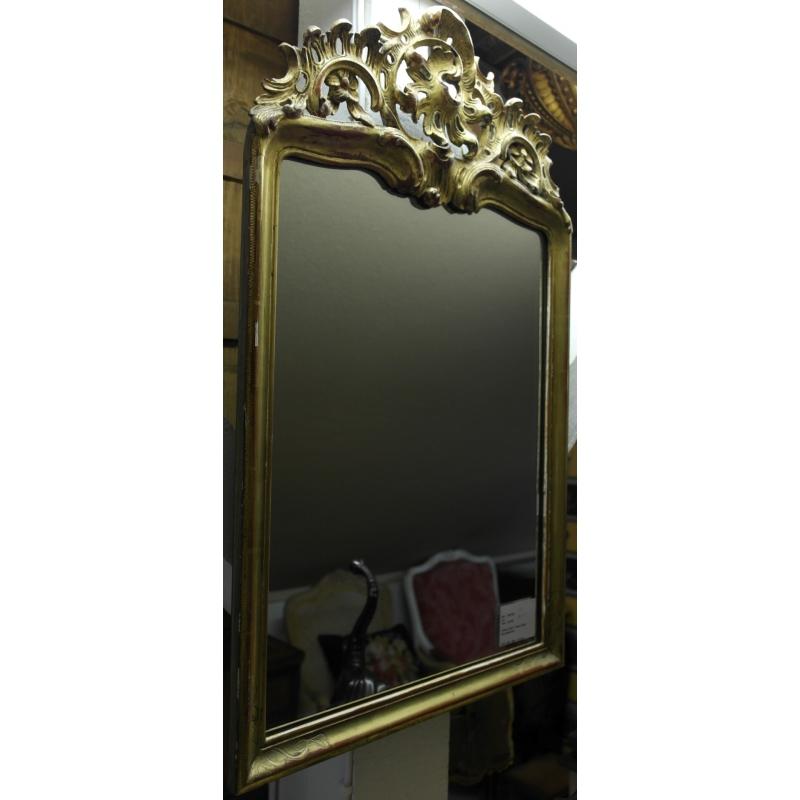 Miroir style louis xv en bois sculpt sur moinat sa for Miroir style
