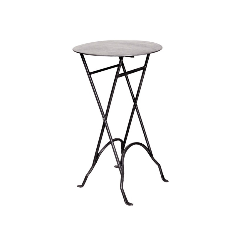 table ronde pliante en fer noir sur moinat sa antiquit s d coration. Black Bedroom Furniture Sets. Home Design Ideas