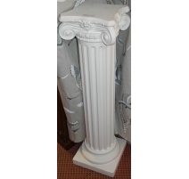 Column of plaster with tent