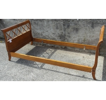 Bed Directoire style cherry wood with