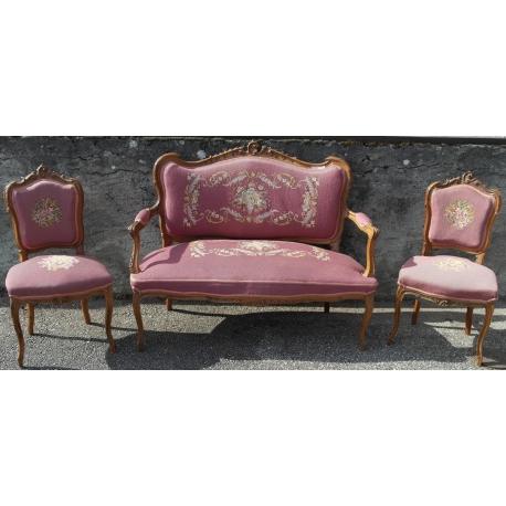 Salon Napoléon III 1 canapé, 2 chaises sur Moinat SA - Antiquités ...