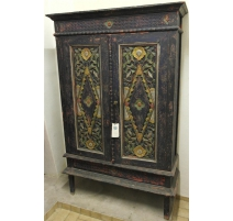 Cabinet indonesian wood painted blue