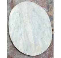 Plateau de chevet ovale en marbre